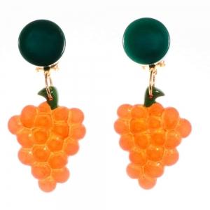 boucles d oreilles grappe orange