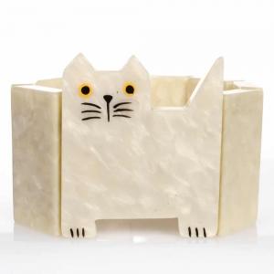 bracelet chat profil blanc