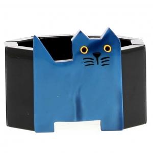 bracelet chat profil bleu et noir