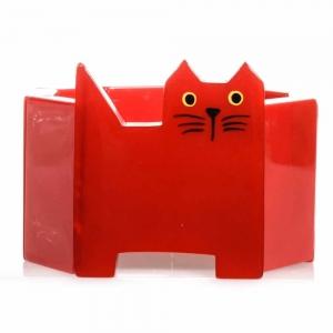 bracelet chat profil rouge