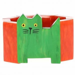 bracelet chat profil vert et orange