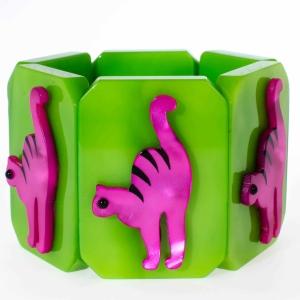 bracelet chat tigre vert scaled