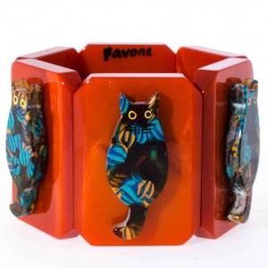 bracelet chaton ecossais sur roux
