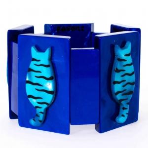 bracelet chaton tigre bleu