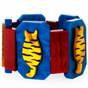 bracelet chaton tigre jaune