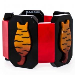 bracelet chaton tigre ocre