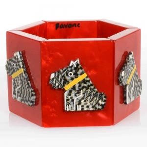 bracelet ric rouge damiers