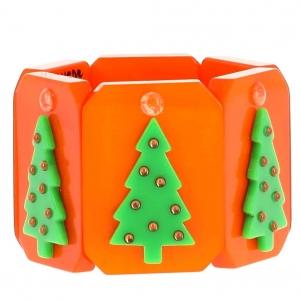 bracelet sapin de noel orange