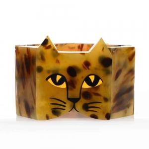 bracelet tete chat galalithe ecaille 1