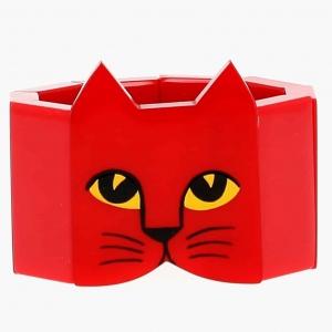 bracelet tete chat rouge 1