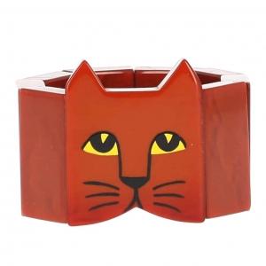 bracelet tete chat roux 1