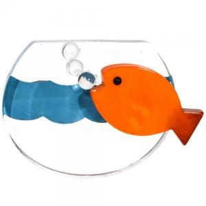 broche aquarium altuglas orange