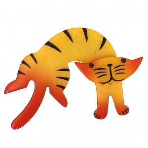 broche chat anicet jaune