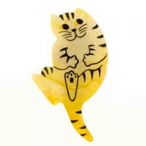 broche chat b7 jaune