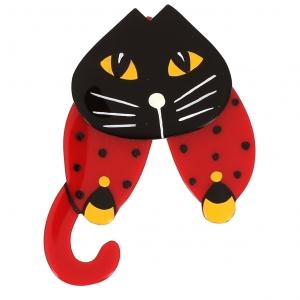 broche chat babouchka rouge