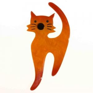 broche chat barbichou orange
