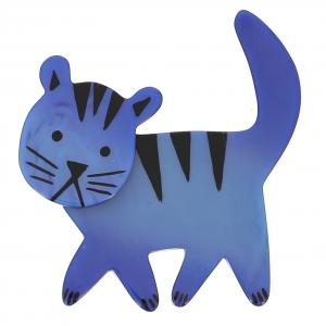 broche chat cachou bleu 0000