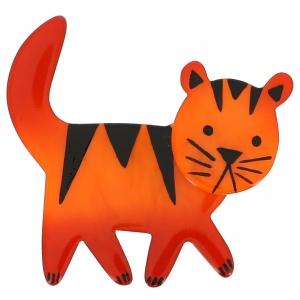 broche chat cachou orange 0000