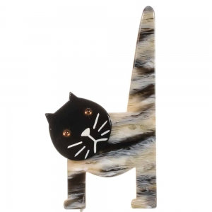 broche chat chaise poilu