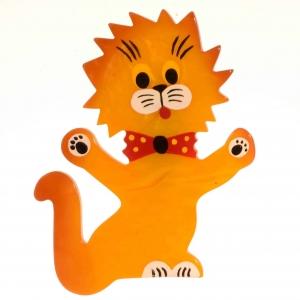 broche chat clown jaune