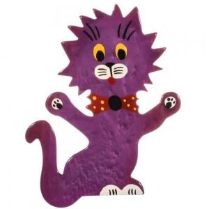 broche chat clown violet