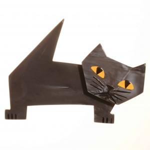 broche chat diablito gris