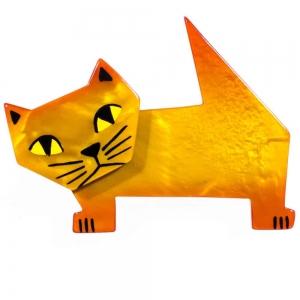 broche chat diablito jaune