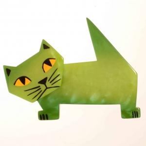 broche chat diablito vert