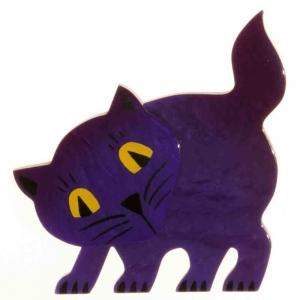 broche chat ebahi violet