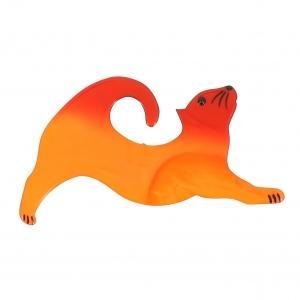 broche chat etire orange
