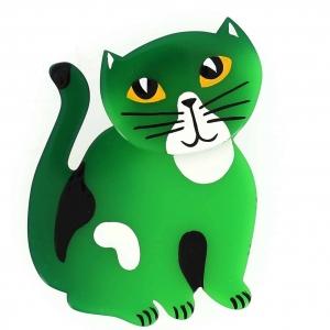broche chat gandou vert
