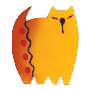 broche chat japonais jaune 0000