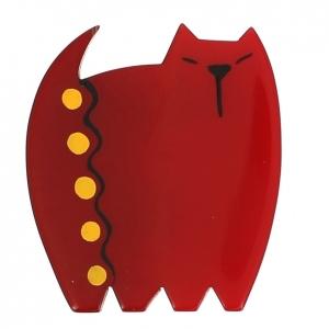 broche chat japonais rouge 0000