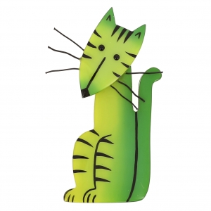 broche chat kikio vert