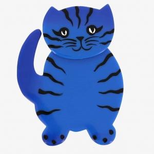 broche chat kiti bleu