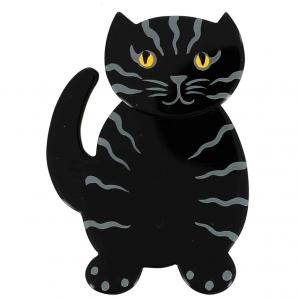 broche chat kiti noir