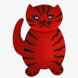 broche chat kiti rouge