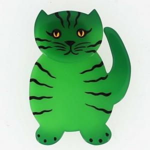 broche chat kiti vert grany