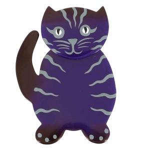 broche chat kiti violet