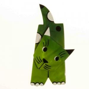 broche chat lego vert