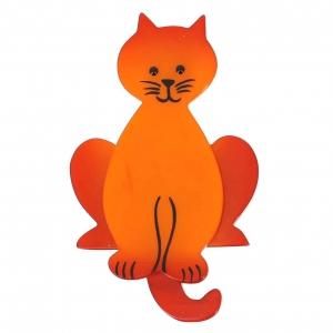 broche chat lucifer orange