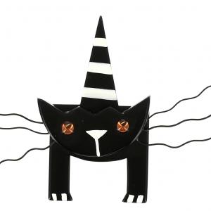 broche chat mascotte noir 0000