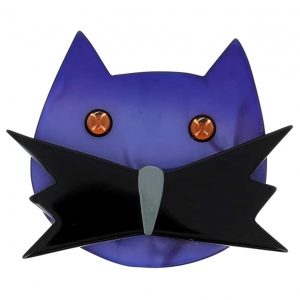 broche chat matou bleu