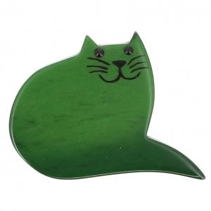 broche chat minou vert 0000