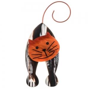 broche chat mirko rayures et orange