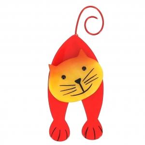 broche chat mirko rouge et jaune