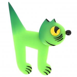 broche chat musico vert