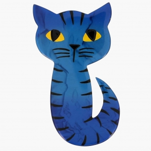 broche chat mystery bleu