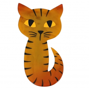 broche chat mystery ocre