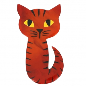 broche chat mystery roux